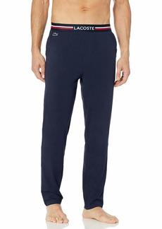 Lacoste Underwear Men's Semi Fancy Solid Jersey Cotton Pajama Pant  XXL