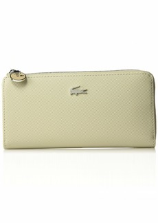 Lacoste Women Daily Classic Slim Zip Wallet red