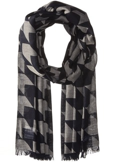 Lacoste Women's All Over Printed Cotton Voile Scarf