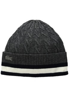 Lacoste Women's Cable Knit Stitch Beanie