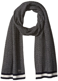 Lacoste Women's Cable Knit Stitch Knitted Scarf