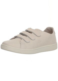 Lacoste Women's Carnaby Strap Sneaker Off White 9.5 Medium US
