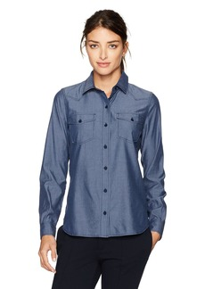 Lacoste Women's Chambray Shirt with  Pockets