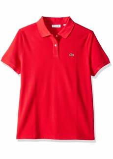 Lacoste Women's Classic Fit Short Sleeve Soft Cotton Petit Piqué Polo imperial red