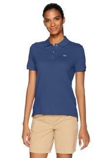 Lacoste Women's Classic Fit Short Sleeve Soft Cotton Petit Piqué Polo Methylene