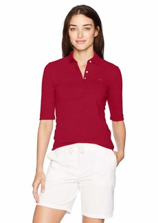 Lacoste Women's Classic Half Sleeve Slim Fit Stretch Pique Polo