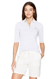 Lacoste Women's Classic Half Sleeve Slim Fit Stretch Pique Polo PF78