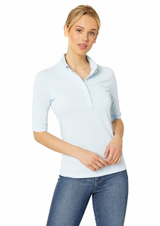 Lacoste Women's Classic Half Sleeve Slim FIT Stretch Pique Polo RILL