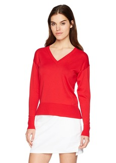 Lacoste Women's Classic Jersey V-Neck Sweater AF502