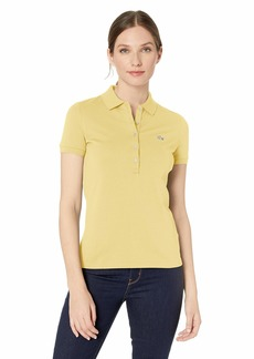 Lacoste Women's Classic Short Sleeve Slim Fit Stretch Pique Polo NAPOLITAN Yellow