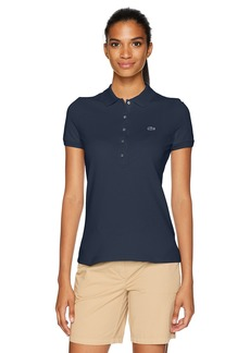 Lacoste Women's Classic Short Sleeve Slim Fit Stretch Pique Polo PF7845