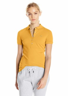 Lacoste Women's Classic Short Sleeve Slim Fit Stretch Pique Polo PF7845 DARJEELING Yellow