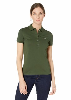 Lacoste Womens Classic Short Sleeve Slim Fit Stretch Pique Polo Polo Shirt