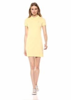 Lacoste Women's Classic Short Sleeve Stretch Mini Pique Polo Dress NAPOLITAN Yellow