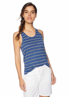 Lacoste Women's Cotton Linen Jersey Hand Made Stripes Tank Tf3744