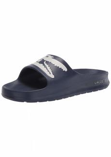 Lacoste Women's Croco Slide Sandals NVY/WHT