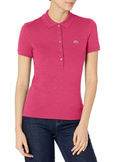 Lacoste Women's Discontinued Classic Pique Slim Fit Short Sleeve Polo Shirt