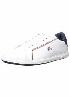 Lacoste Women's Graduate Sneaker White/Navy/red  Medium US