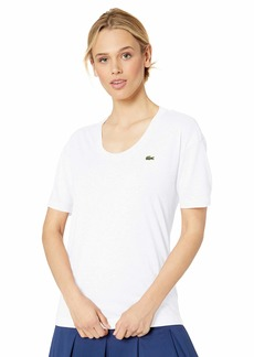 Lacoste Women's Half Sleeve Scoop Neck Tennis Performance Jersey TEE Shirt