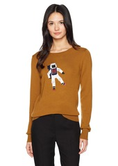 Lacoste Women's Interlock Sweater with Big Cosmo Logo Embroided