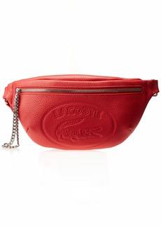 Lacoste Women's Leather Croc Waist Fannypack Bag Nettle/Carbon-Atlas Khaki