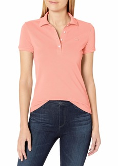 Lacoste Women's Legacy Short Sleeve Slim Fit Stretch Pique Polo Shirt ELF Pink