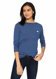 Lacoste Women's Long Sleeve Boatneck Striped Wool Sweater