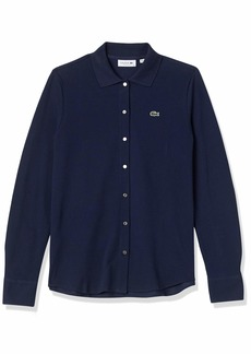 Lacoste Women's Long Sleeve Button Through Polo