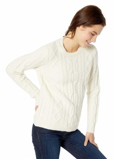 Lacoste Women's Long Sleeve Cableknit Crewneck Wool Blend Sweater geode
