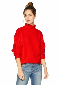 Lacoste Women's Long Sleeve Chunky Knit Wool Mohair Blend Sweater POMEGRENATE XL