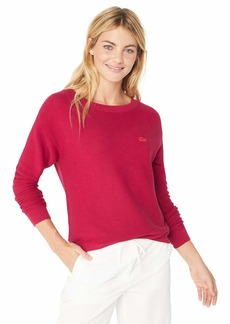 Lacoste Women's Long Sleeve Cotton Boatneck Sweater PERSE Chine