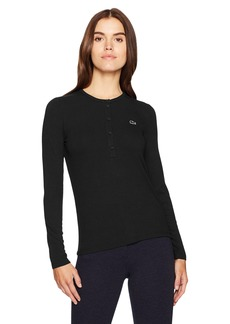 Lacoste Women's Long Sleeve Henley Tee