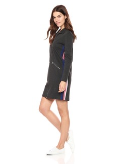 Lacoste Women's Long Sleeve Interlock Pique Multico Stripes Polo Dress
