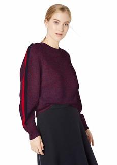 Lacoste Women's Long Sleeve Made in France Mouline Jersey Wool Sweater  XS