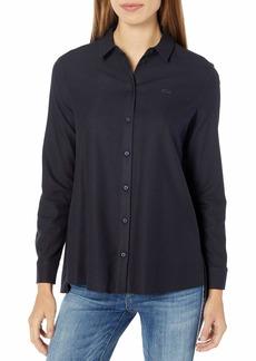 Lacoste Women's Long Sleeve Peplum Button Down