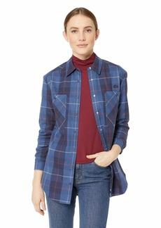Lacoste Women's Long Sleeve Shaded Tartan Woven Check Cotton Shirt