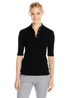 Lacoste Women's Long Sleeve Slim Fit Stretch Mini Piqué Polo