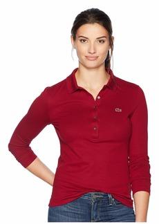 Lacoste Womens Long Sleeve Slim Fit Stretch Mini Piqué Polo Polo Shirt