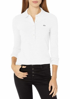 Lacoste Womens Classic Half Sleeve Slim Fit Stretch Pique Polo Polo Shirt