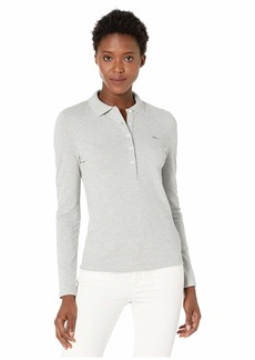 Lacoste Women's Long Sleeve Slim FIT Stretch Pique Polo