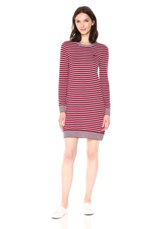 Lacoste Women's Long Sleeve Striped Wool Sweater Dress