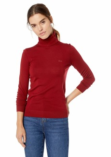 Lacoste Women's Long Sleeve Wool Turtleneck