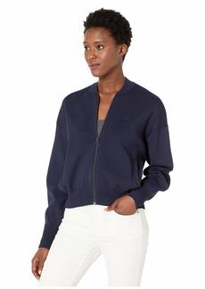 Lacoste Women's Long Sleeve Zip Full Needle NEO Feminine Sweater