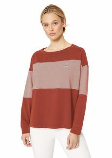 Lacoste Women's L/S Mariniere Striped TEE Shirt IBERIS/Flour L