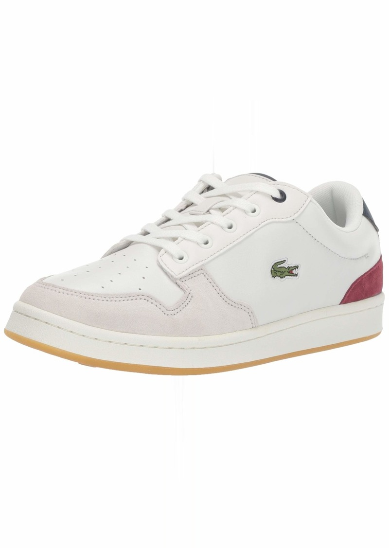 Lacoste Women's Masters Shoe Off White/NVY/Dark Red 6.5 Medium US