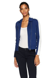 Lacoste Women's Pique Interlock Colorblock Jacket
