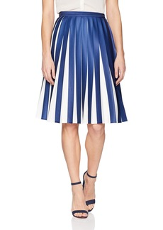 Lacoste Women's Pleated Jersey Colorblock Skirt
