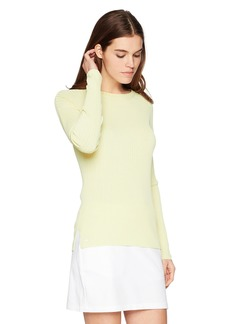 Lacoste Women's Rayon Flat Rib Crew Neck Sweater AF3145