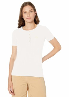 Lacoste Women's Ribbed Cotton-Poly S/S Henley