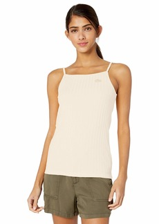 Lacoste Women's Ribbed Cotton-Poly Tank TOP